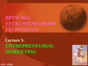 L5 - Entrepreneurial Marketing