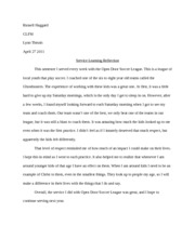 Service Learning Assignment