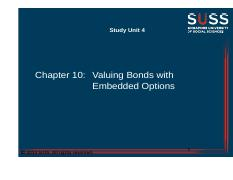 7 2013 SUSS All Rights Reserved Bond Valuation Model A Must