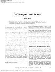 Martin Andres On Teenagers and Tattoos.docx