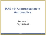 MAE 161A 2009 - Lecture 1