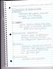 Dimensions of Comm. Notes