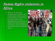 Human Rights violations in Africa
