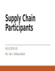 III. Participants in Supply Chain.pptx
