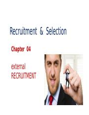 Ch 04- External Recruitment