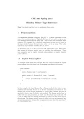 CSE340_S13_notes4-Hindley-Milner-Polymorphism