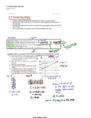 Interpreting Graphs Notes