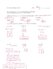 Math 125 Quiz 8 Key On Intermediate Algebra