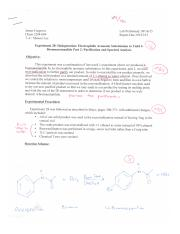 Electrophilic Aromatic Substitution to Yield 4-Bromoacetanilide Part 2 Purification and Spectral Ana