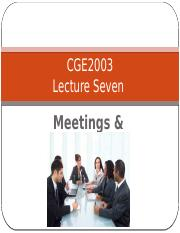 Lecture 7  Meetings & Minutes Full Version.pptx