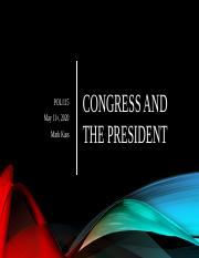 Congress and the President.pptx