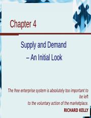 Chapter 4 - Supply and demand - an initial look.ppt