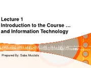 Week-1-Lecture 1-Intro to Computer