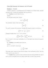CHEM 3322 Homework 3 and Solutions