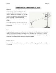 Unit 1 Assignment- Monkey and the Hunter (1).pdf