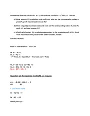 7 Objective of the Firm Mathmatical derivation