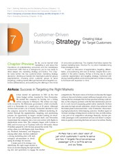 Chapter 07 - Designing Customer Driven Strategy and Mix
