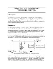 252-09 The Geiger Counter
