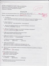 old exam number 2 spanish 214