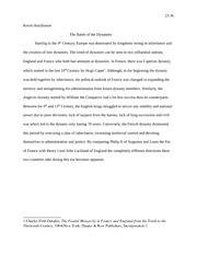 The Battle of the Dynasties - Noble Kings Paper