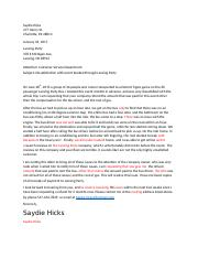 Saydie Hicks - Claim Letter.docx