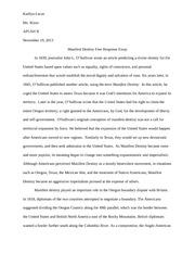 Manifest destiny essays