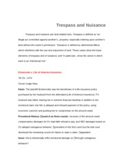 Trepass and Nuances