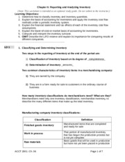 Acct Chapter 6 Study Guide