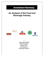 food & beverage Industry case study
