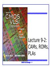 Lecture 9-2 ROM CAM arrays