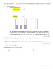 T102 SECTION 6.3 Mult & Divide Rational Numbers