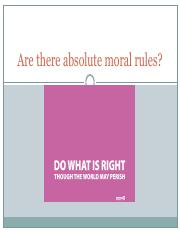 Are there absolute moral rules