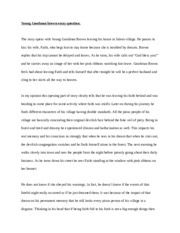 Young Goodman brown essay question