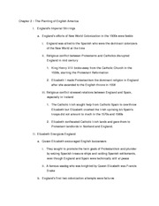 History Chapter 2 Outline Updated