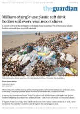 Millions of single-use plastic soft drink bottles sold every year, report shows | Environment | The