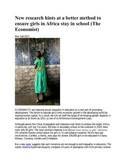 girls and school in africa