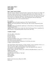 Study Guide Test 2 International Relations Oatley