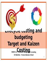 kaizen costing case study
