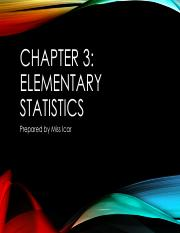 Chapter 3 Numerical Descriptive Measures