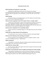 Marketing Final Study Guide