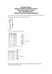 Solutions of Tutorial-3