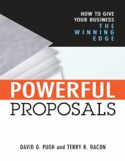AMACOM.Powerful proposals how to give your business the winning edge