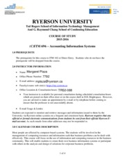 ITM696_Course Outline Fall2015