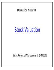 NOTE10stockvaluation.pptx