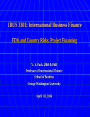 IBUS 3301 4-18-16 FDIs & Project Financing.ppt