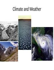 Ch 4 Climate and Weather