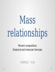 Mass relationships LMS version