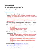 Study Guide for Cancer, Ch 9 Part 2 (1).docx