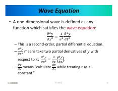 Lecture 8 - Phys 103 Spring 2018 12 pdf - Wave Equation A one