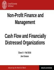 NPFM - Class 5 - Cash Flow and Financially Distressed Organizations - SSO - Fall 2016.pptx